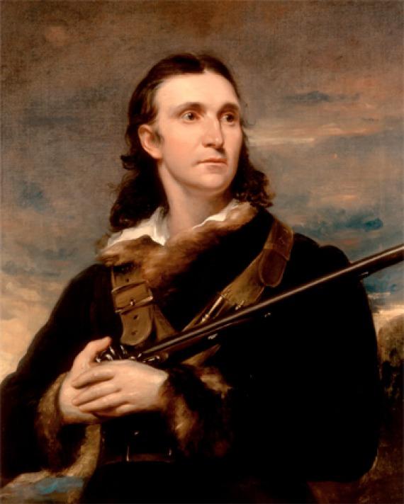 Painting of ornithologist and artist John James Audubon.