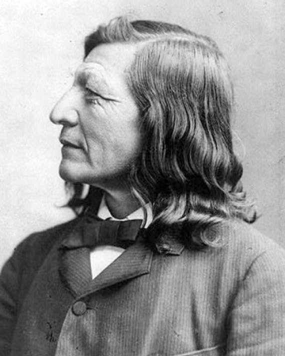 Photograph of Native American author and educator Luther Standing Bear.