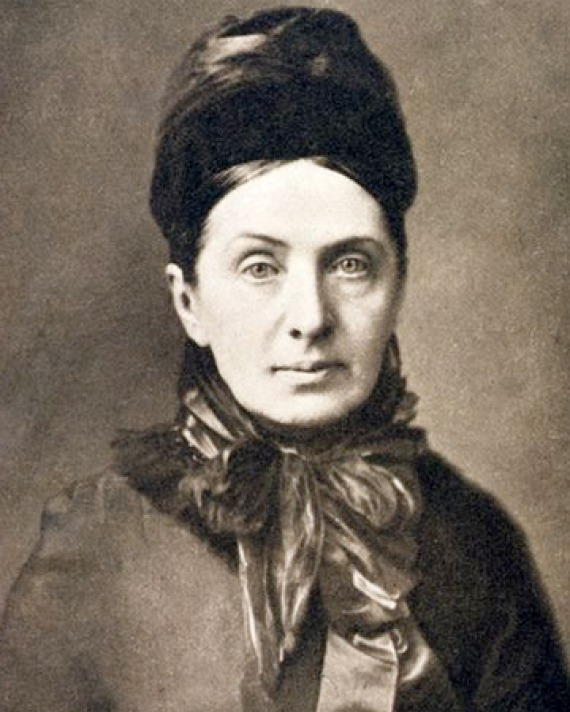 Photograph of traveler and writer Isabella Bird.