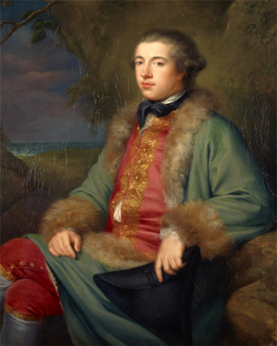 Portrait of Scottish biographer and diarist James Boswell.