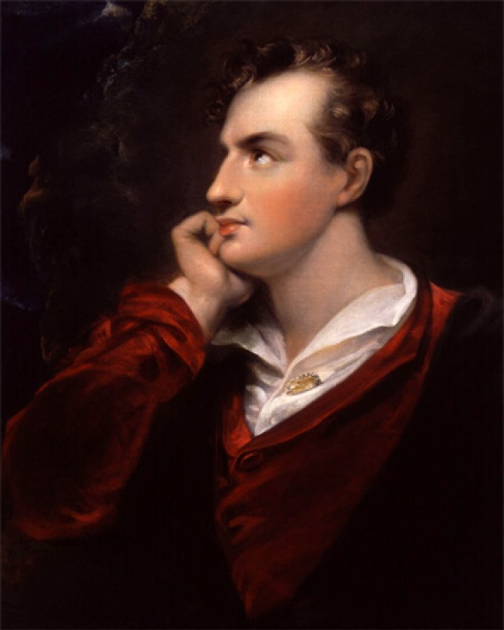Portrait of British poet Lord Byron.