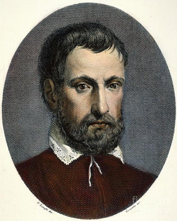 Florentine sculptor and writer Benvenuto Cellini.