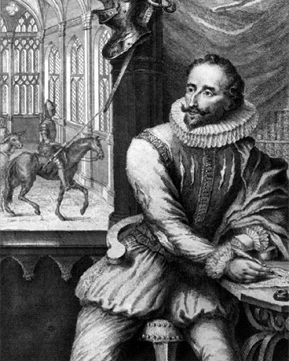 Spanish writer Miguel de Cervantes.