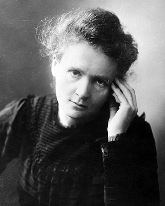 Polish-born French physicist Marie Curie.