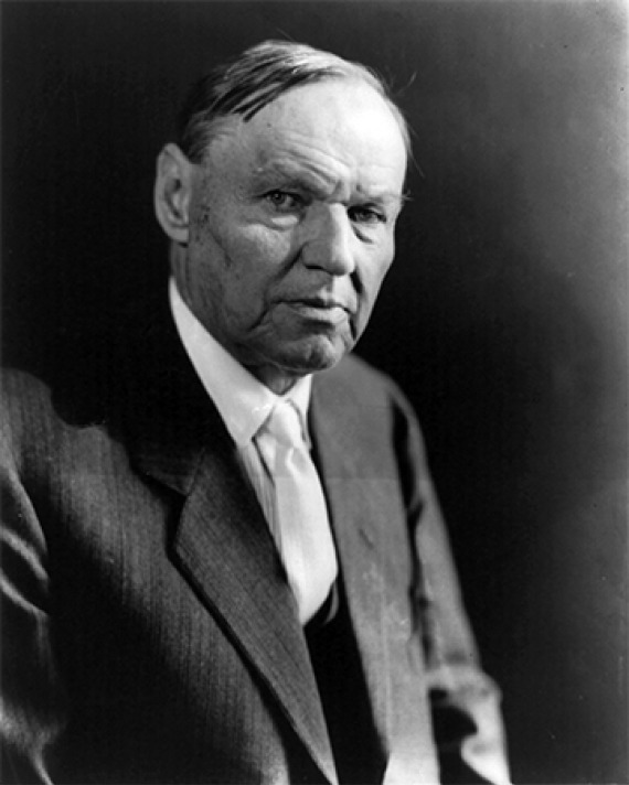 American lawyer Clarence Darrow.