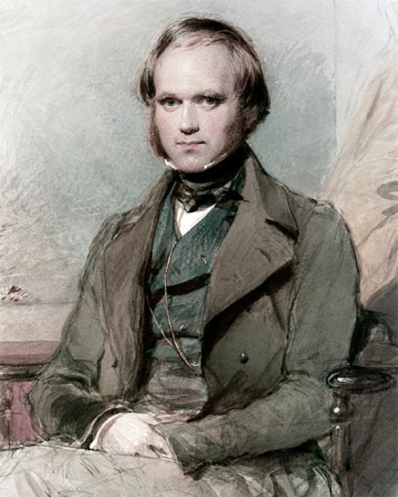 Image of English naturalist Charles Darwin.