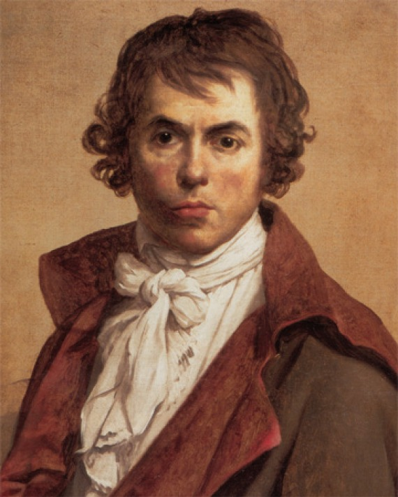 Self-portrait of French artist Jacques-Louis David.