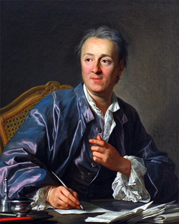 French man of letters Denis Diderot.