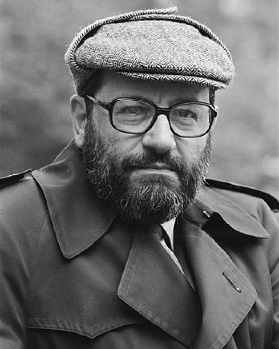 Italian literary critic and novelist Umberto Eco.