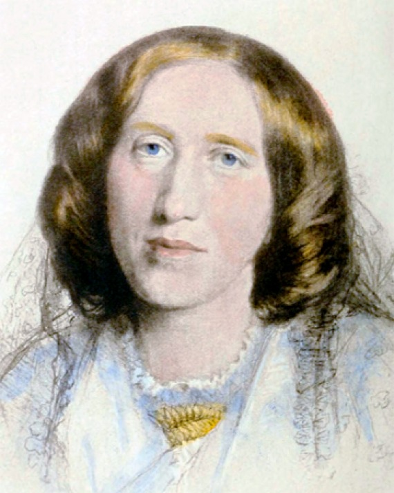 Pastel drawing of George Eliot.