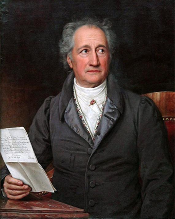 German writer and statesman Johann Wolfgang von Goethe.