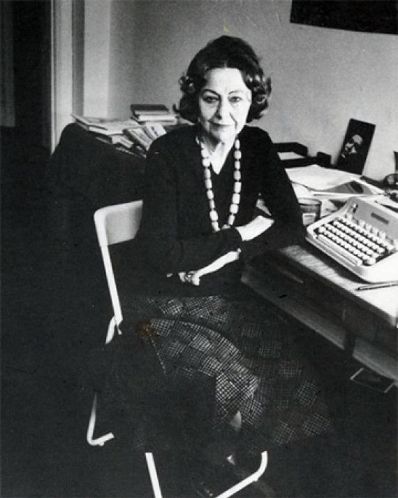 American literary critic and novelist Elizabeth Hardwick.