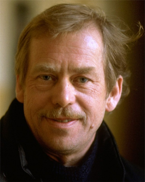 Color photograph of Czech playwright, poet, and political dissident Václav Havel.
