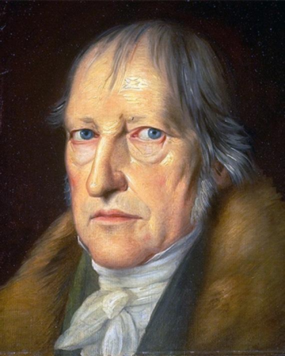 Painting of an older Georg Wilhelm Friedrich Hegel.