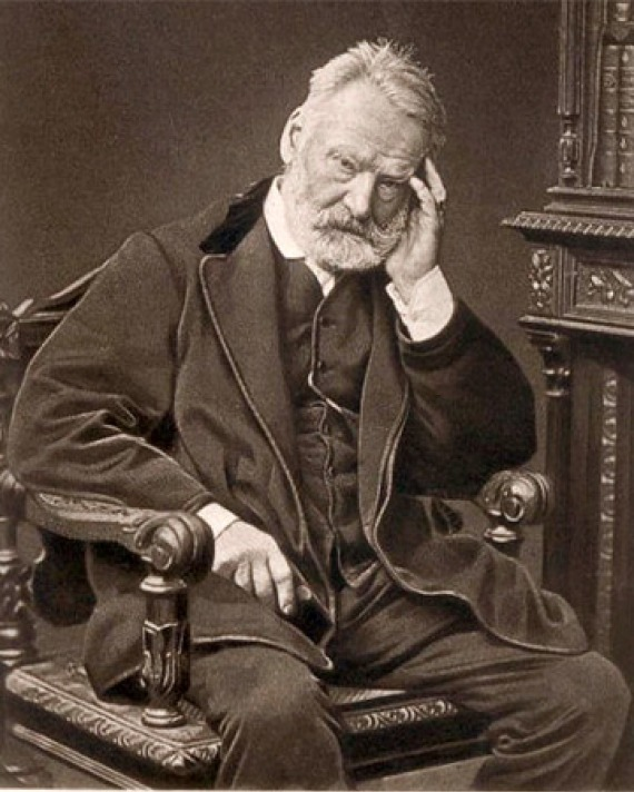 Black and white photograph of French writer Victor Hugo.