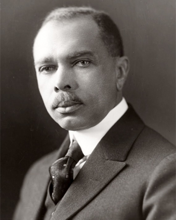 Black and white photograph of poet, diplomat, and civil rights activist James Weldon Johnson.