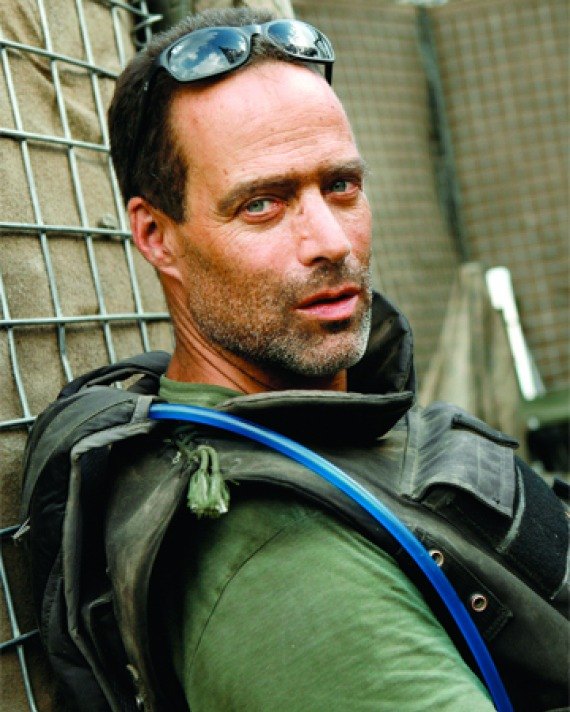 Photograph of American journalist Sebastian Junger.