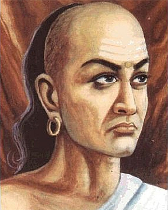 Artist rendering of Hindu statesman and philosopher Kautilya.