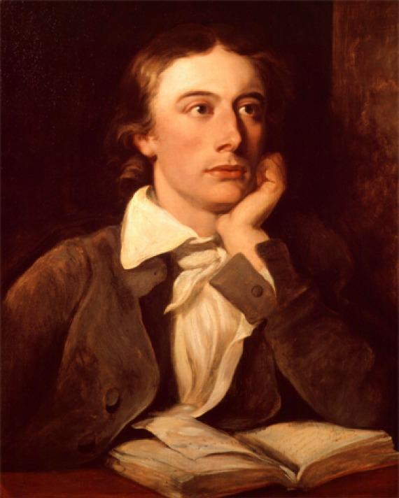 Portrait of English poet John Keats.