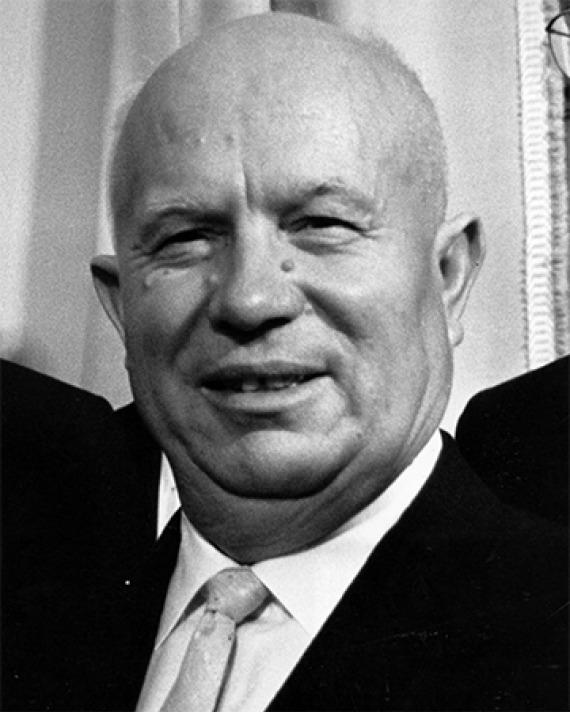 Photograph of former Soviet premier Nikita Khrushchev.