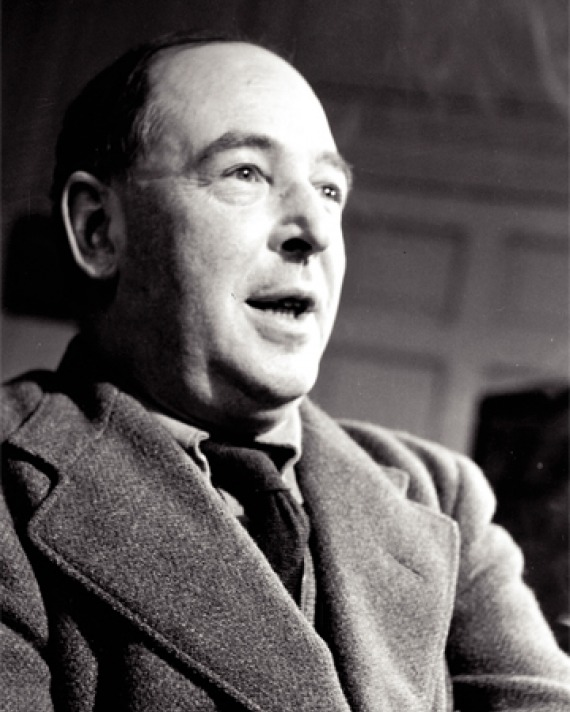 Black and white photograph of scholar, novelist, and Christian apologist C.S. Lewis.