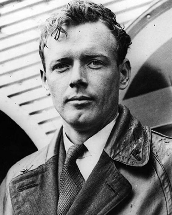 American aviator Charles Lindbergh.