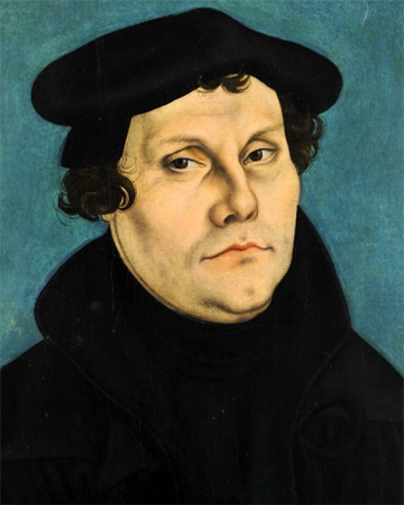 Color portrait of German theologian and reformer Martin Luther.