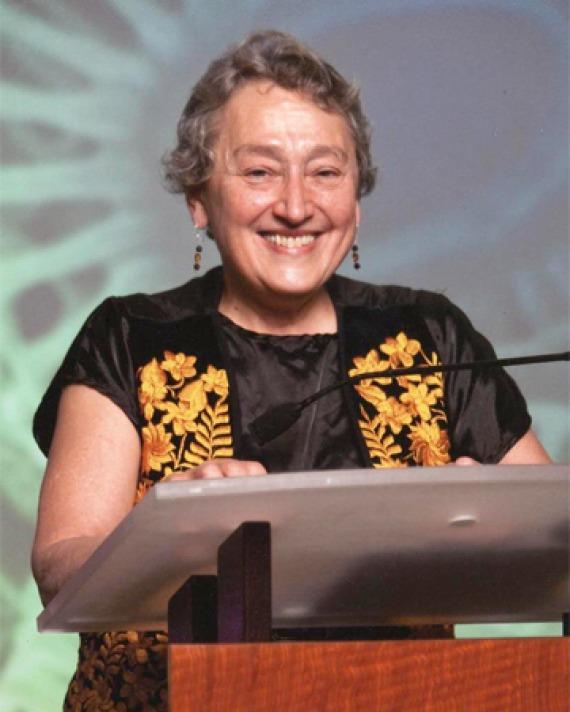 Photograph of American biologist Lynn Margulis.