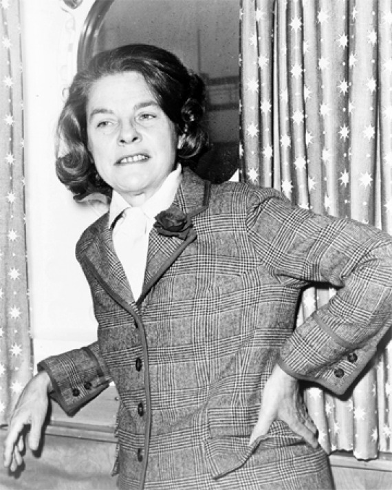 Black and white photograph of critic and novelist Mary McCarthy.