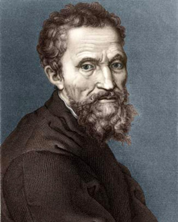 Italian Renaissance sculptor, painter, architect, and poet Michelangelo.
