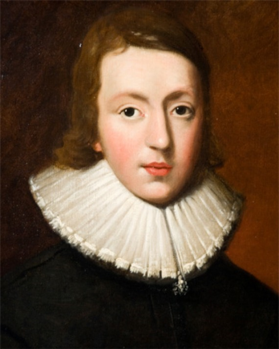 Painted portrait of English poet John Milton.