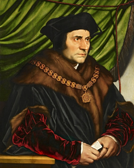 Hans Holbein portrait of Sir Thomas More.