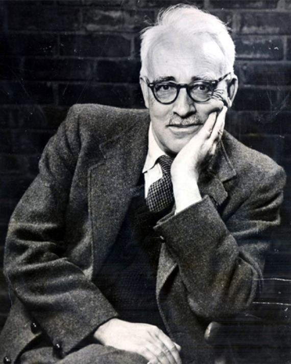 Photograph of Irish playwright and novelist Frank O'Connor.