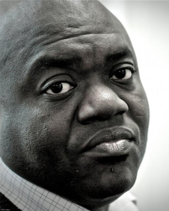 Black and white photograph of E. C. Osondu.