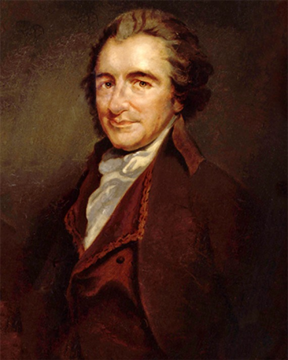 Portrait of English-American writer and polemicist Thomas Paine.