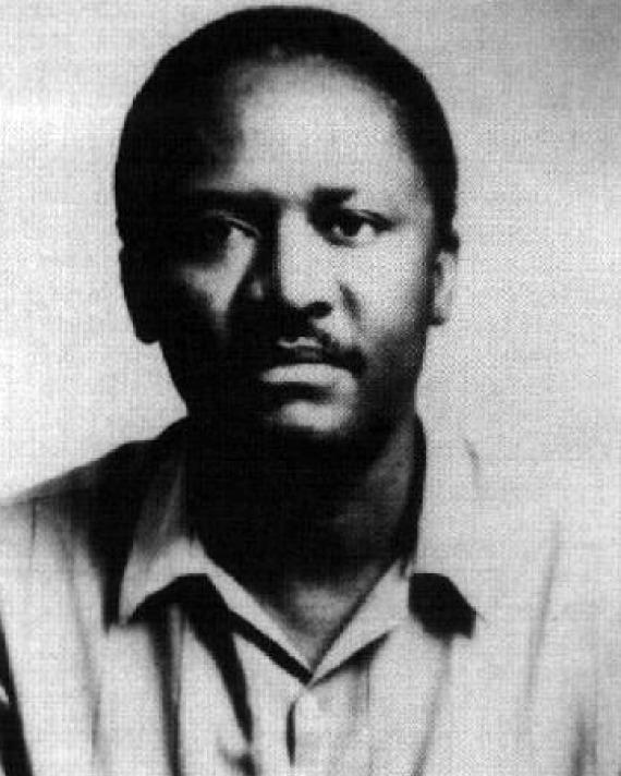 Photograph of Ugandan poet Okot p'Bitek.