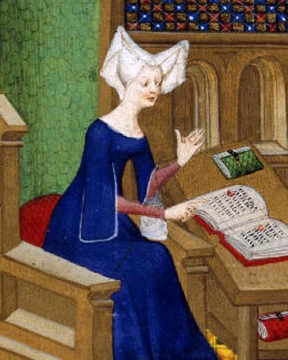 French poet and author Christine de Pisan.