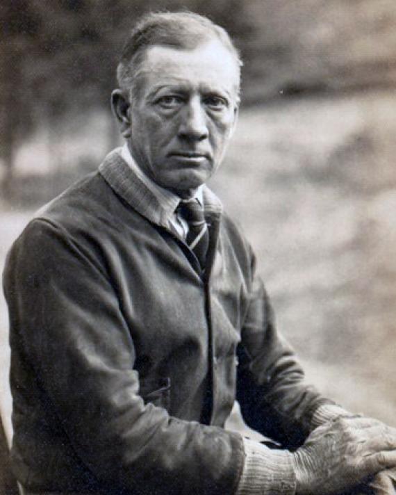 Stone mason LeRoy Pollock.