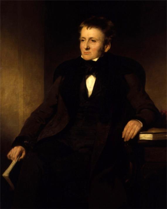 Portrait of English essayist and critic Thomas De Quincey.