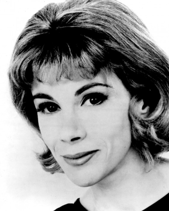 Black and white photograph of American entertainer Joan Rivers.