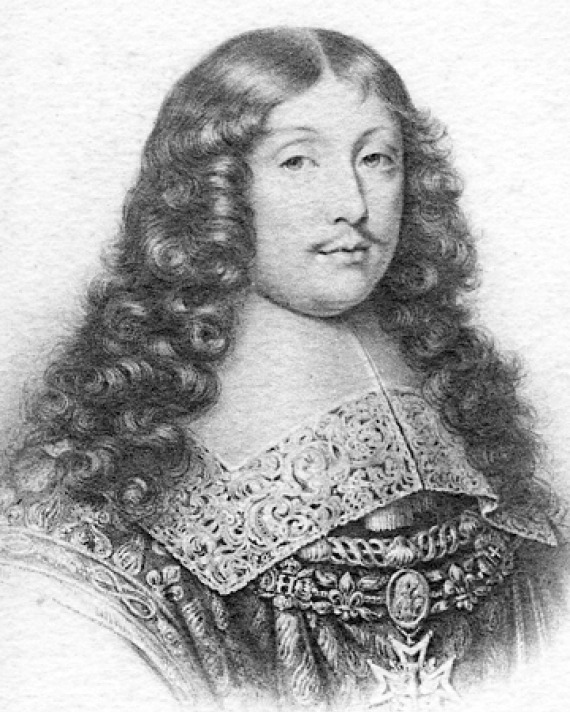 Black and white image of French classical author La Rochefoucauld.