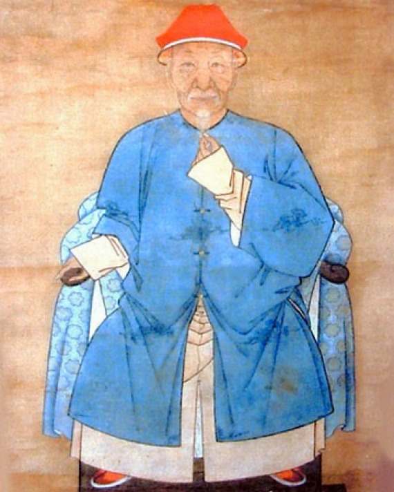 Portrait of Chinese fiction writer Pu Songling.