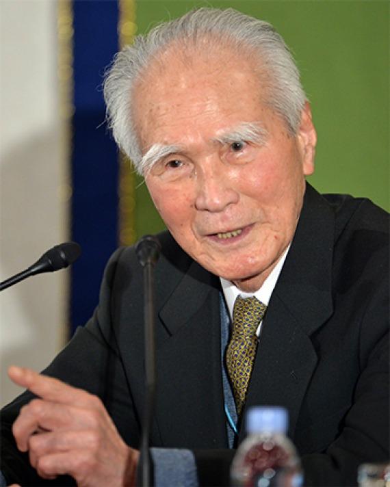 Former prime minister of Japan Murayama Tomiichi.