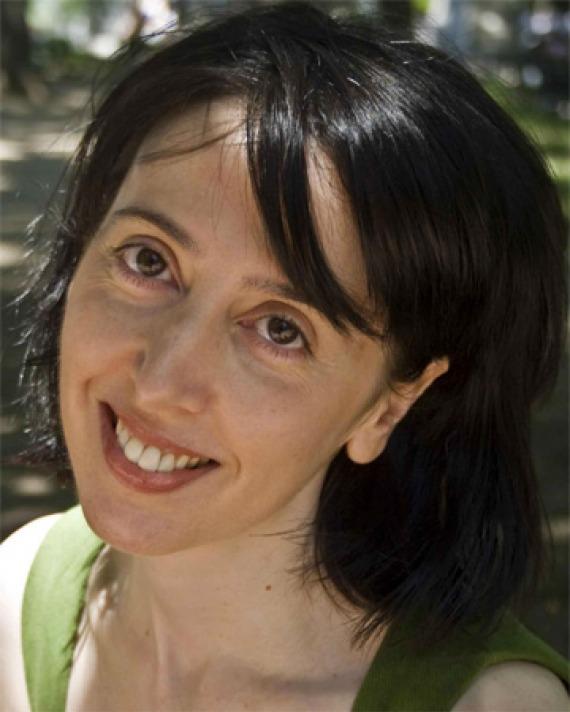 Color photograph of American writer Deb Olin Unferth.