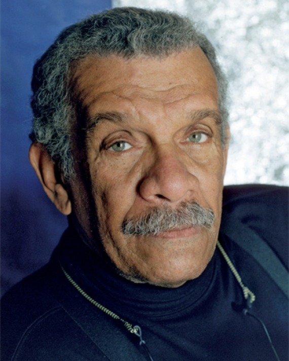 Photograph of West Indian poet and playwright Derek Walcott.