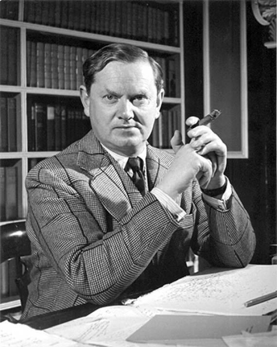 English author Evelyn Waugh.
