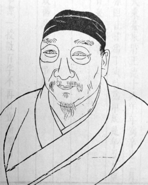 Portrait of Chinese painter and poet Xu Wei.