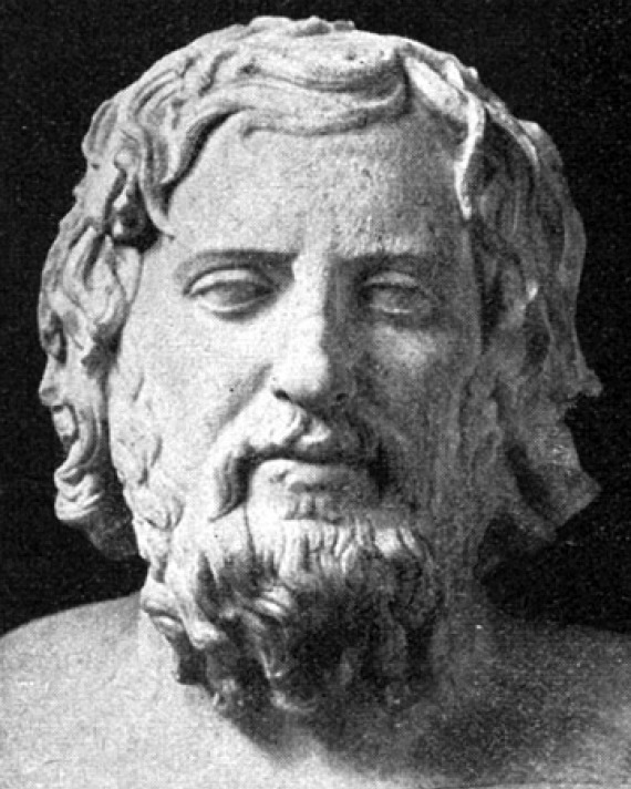 Portrait bust of Greek historian Xenophon.