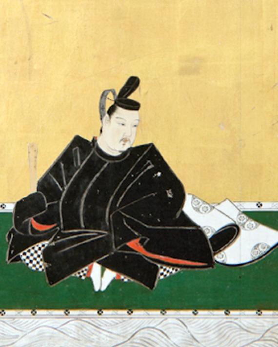 Painting of Japanese statesman and poet Otomo no Yakamochi.