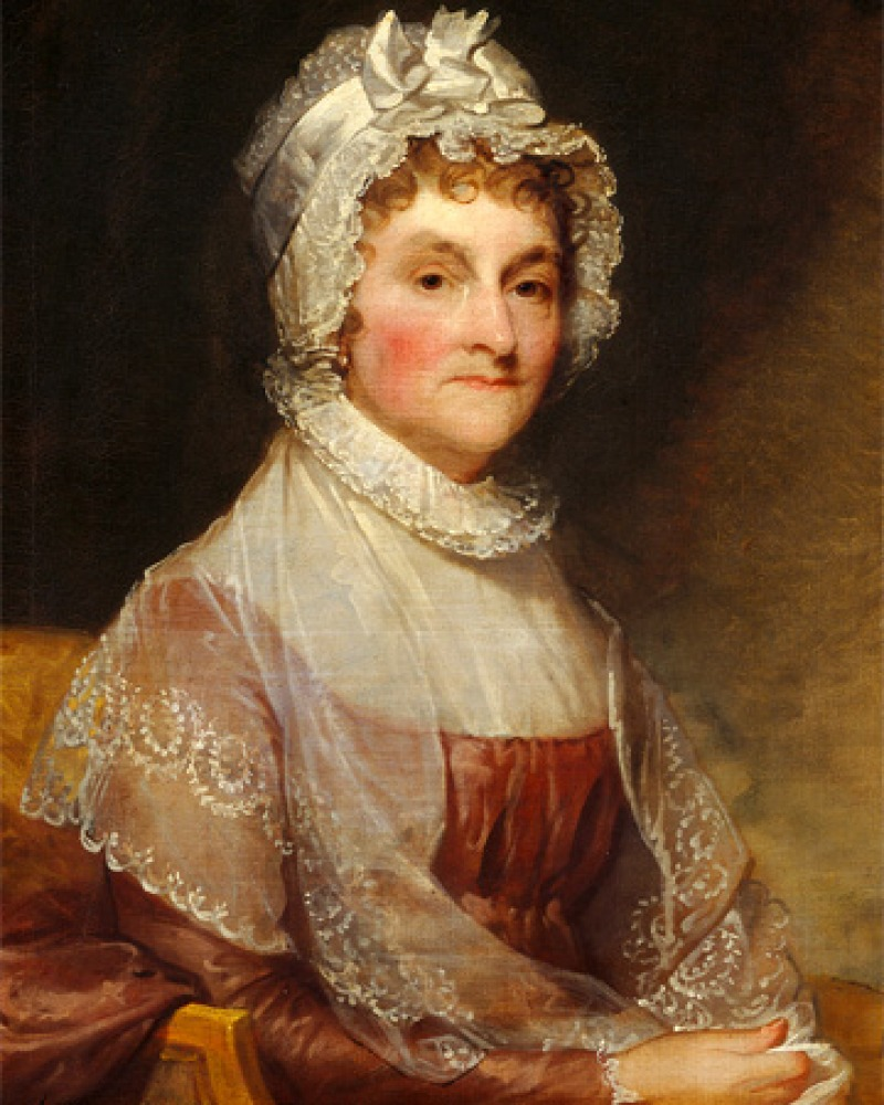 Painted portrait of former American first lady Abigail Adams.